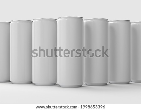 3D illustration, soda can mockup for your logos and designs. Zdjęcia stock ©