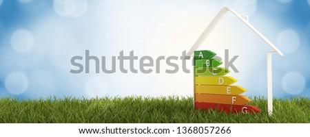 3d-illustration symbol house energy efficiency Foto stock ©