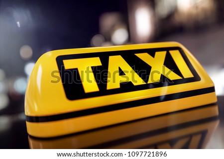 3D-Illustration Taxi Driver