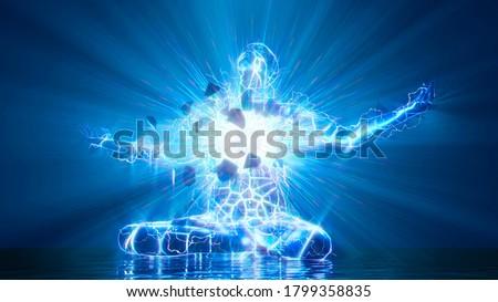 3D illustration. The inner light bursts out Photo stock ©