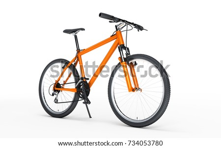 3d illustration. Three colorful bikes going in different directions. Sport concept