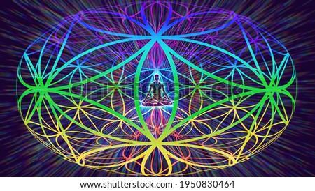 3D illustration torsion field of human energies Сток-фото ©