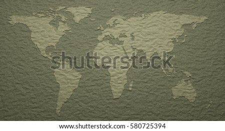 3d illustration world map with embossed details ez canvas world map with embossed details gumiabroncs Gallery