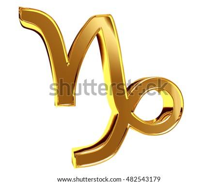 3d Illustration Zodiac Signs Capricorn On A White Background Ez