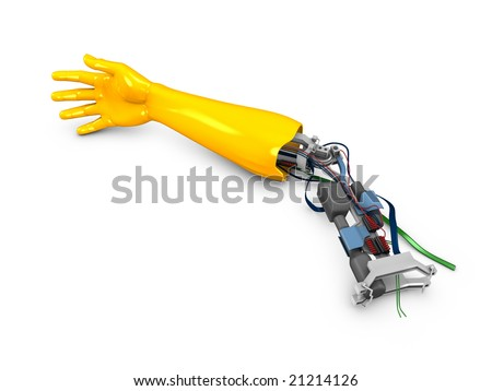 3d image, conceptual, fiction robotic arm