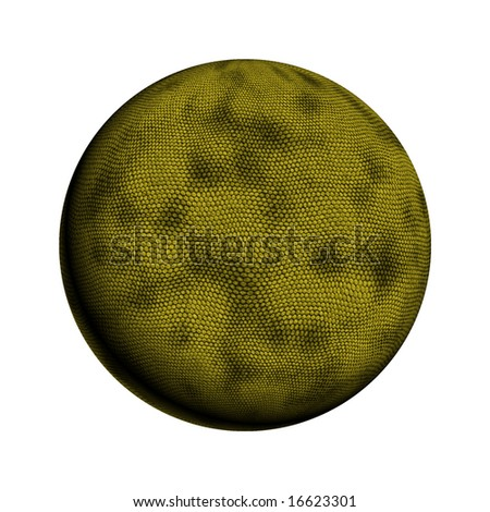 3D Image of a ball with rough snake skin texture