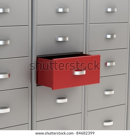 3d image of classic file cabinet