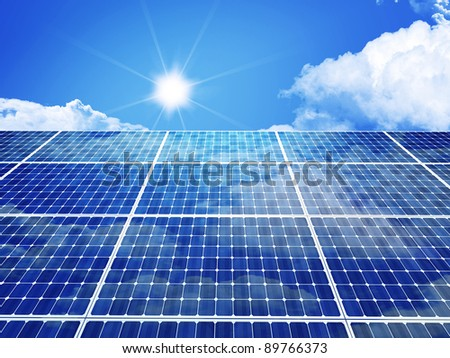 3d image of classic solar panel