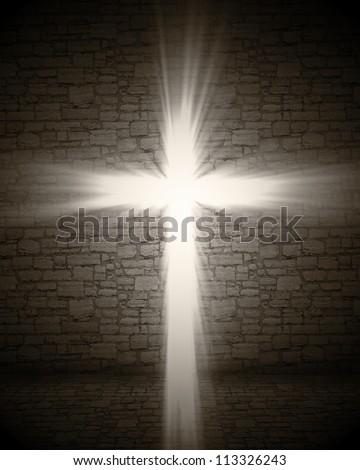 3d image of cross light