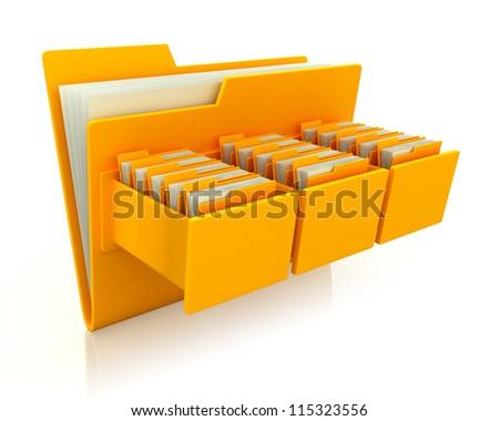3d image of file folder