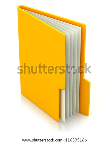 3d image of file folder