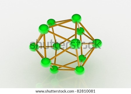 3d image of molecular structure isolated in white