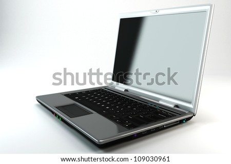 3d image of notebook against white background