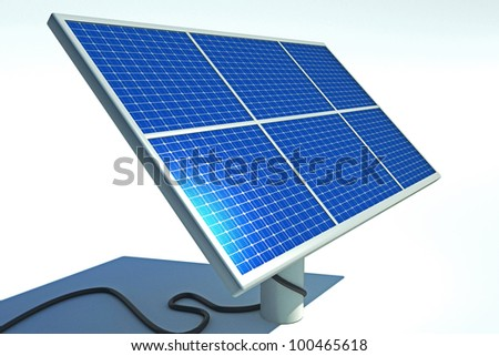 3d image of solar power panel against abstract background