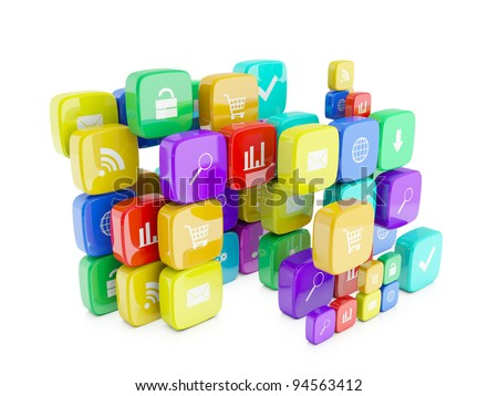 3d images of icons for telephone appendices
