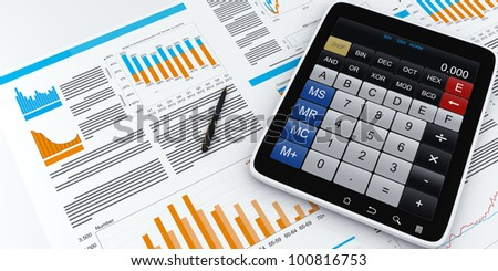 3D images: Tablet PC business graphics calculator