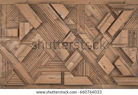 3D Interior decoration element for wall