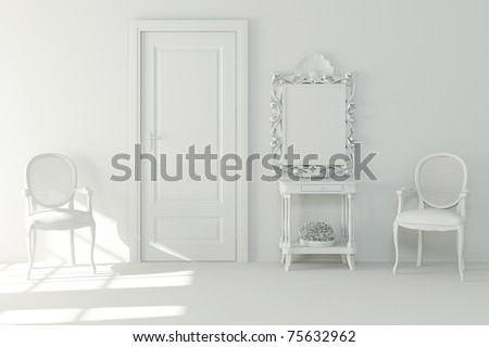 3d Interior Design - Clay Render Stock Photo 75632962 :