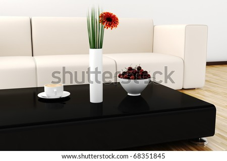 3d Interior Design Lit By Warm Daylight Stock Photo 683