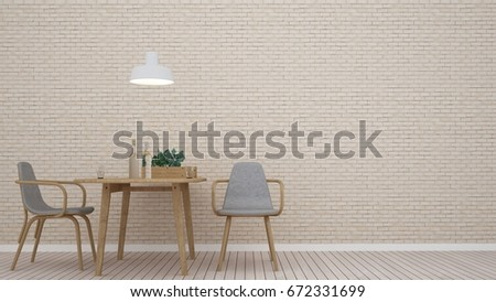 3D interior furniture rendering living space and wall decoration in hotel