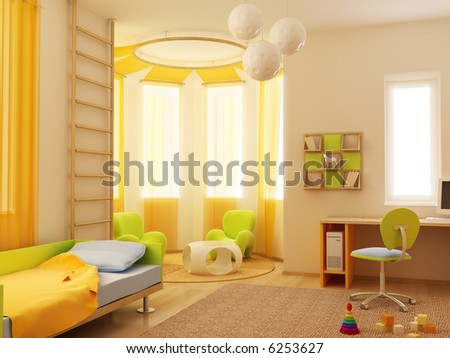 Room Interior  Kids on 3d Interior Of The Children S Room Stock Photo 6253627   Shutterstock