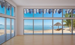 3D interior view of a non-existing house on the beach (no property release needed) / Beach house