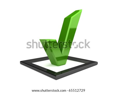 3d isolated check mark