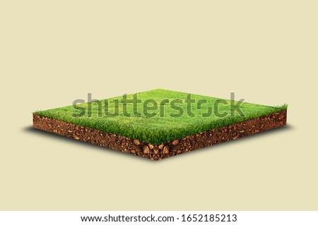 3d isometric green grass land,3d isometric green land, 3d green land,3d soil