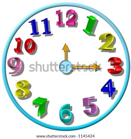 3D Kid's clock