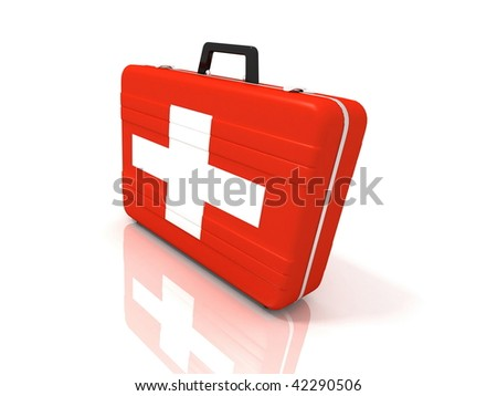 3d kit bag isolated on a white background