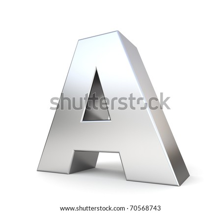 3d letter A from my metal letter collection