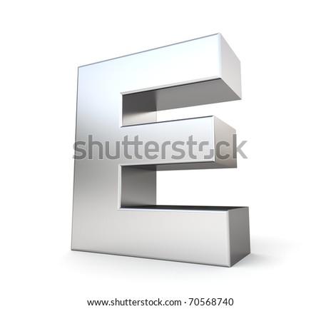 e Letter Logo 3d 3d Letter e From my Metal
