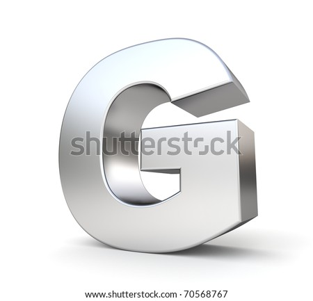 3d letter G from my metal letter collection