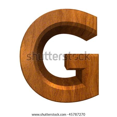 3d Letter G In Wood Stock Photo 45787270 : Shutterstock