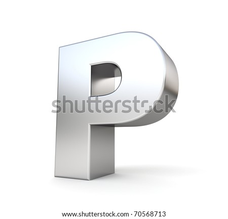3d letter P from my metal letter collection