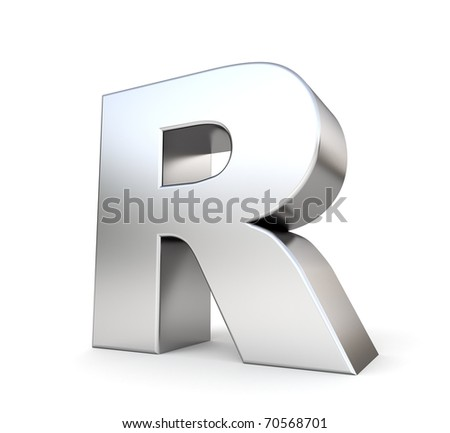 3d letter R from my metal letter collection