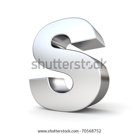 s alphabet 3d  3d letter S from