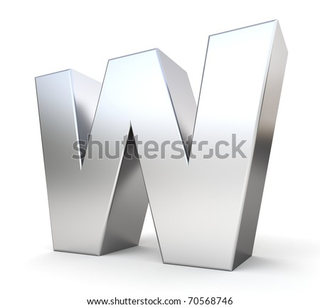 3d letter W from my metal letter collection