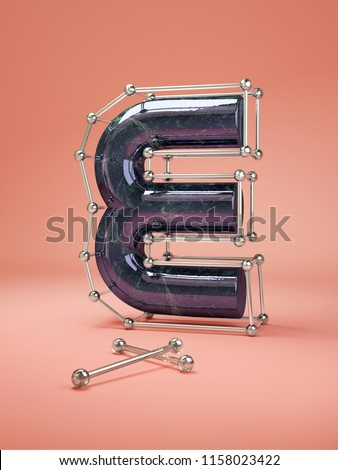 3D letters E three-dimensional letters #1158023422