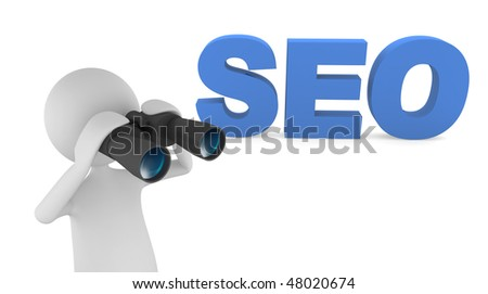 3D letters representing Search Engine Optimization (SEO) - stock photo