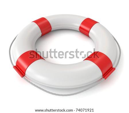 3d lifebuoy isolated on white background