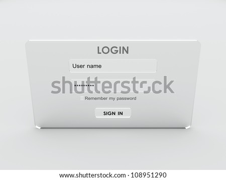 3D Login user name and password form