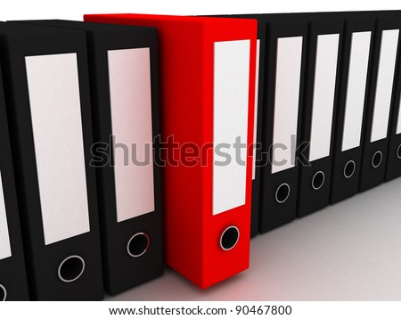 3d lots file folder isolated on white background