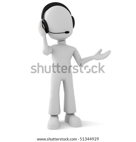 3d man - call-center