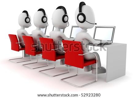 3d man, call-center