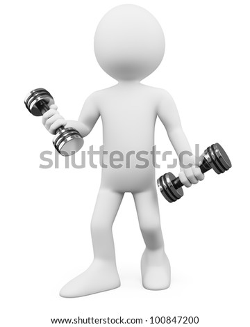 3D Man - Fitness. Rendered at high resolution on a white background with diffuse shadows.