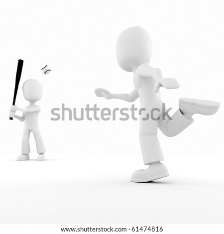 stock photo   3d man playing