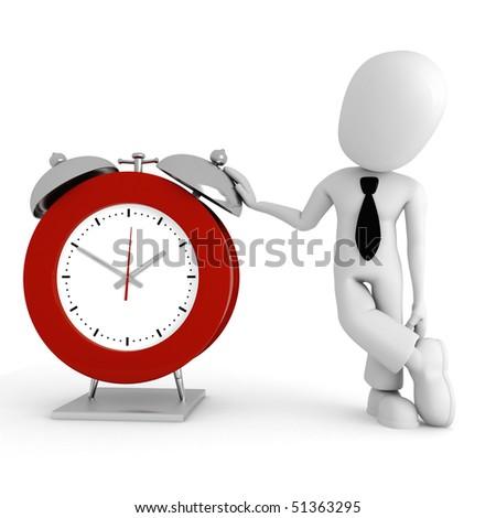3d man standing near a watch
