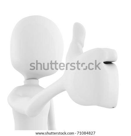 3d man thumb up !