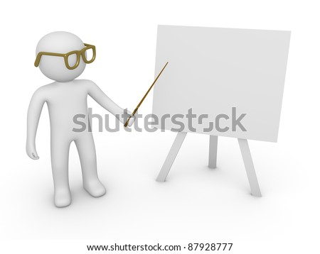3d man with a pointer